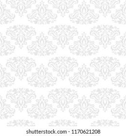 Vintage damask floral seamless pattern.