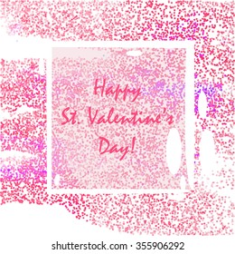 Vintage decoration for St. Valentione's Day card  with dots.