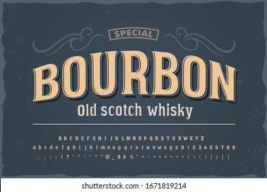 Vintage decorative font. Good vintage font for any alcohol label design.