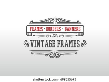 vintage decorative frames and flourishes