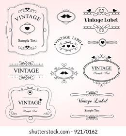 vintage decorative labels