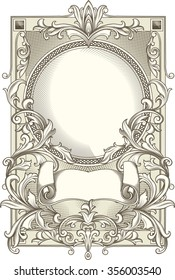 Vintage decorative ornate blank