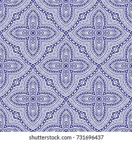Vintage decorative seamless pattern. Ornament illustration. Vector luxury elements.Traditional, Arabic, Turkish, Indian motifs. Great for fabric and textile, wallpaper, packaging, or any desired idea.