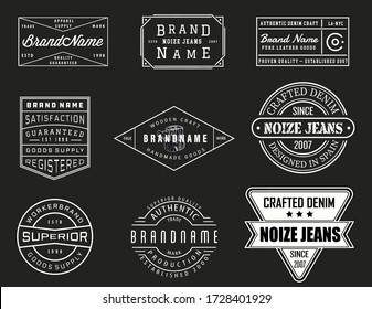 Vintage denim logo template for garments and textiles. Denim logo template for startup jeans.