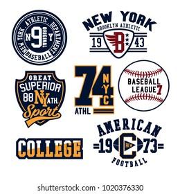 Vintage Denim print apparel set.Old school vector graphic for fashion and printing.New York, California,Brooklyn.Original badge,tee print.Vintage apparel.Retro artwork and typography.Big vector set.