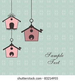 vintage design with birdhouses