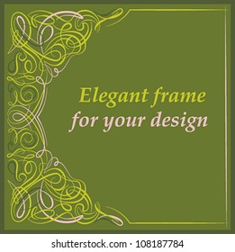 Vintage design card with calligraphic ornaments