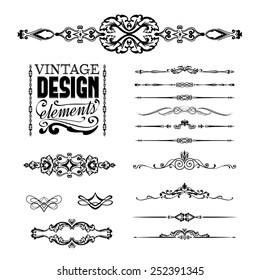 Vintage design elements, set