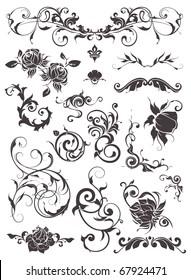Vintage design elements, set