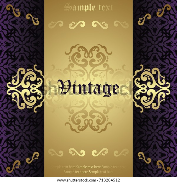 Vintage Design Invitation Card Certificate Other Stock Vector Royalty Free 713204512