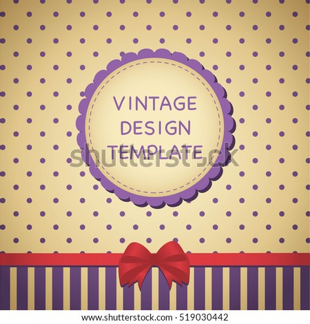 vintage design template label ribbon banner stock vector royalty