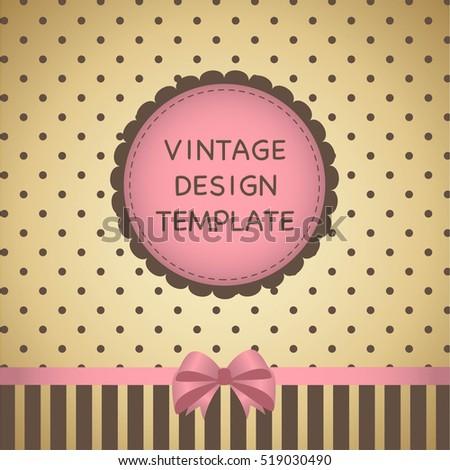 Vintage Design Template Label Ribbon Banner Stock Vector Royalty