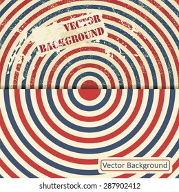 Vintage design template with stripes. Vector illustration