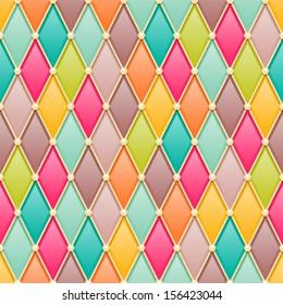 Vintage diamonds / rhombus seamless pattern