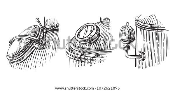 Image Vectorielle De Stock De Dessin De L Appareil De Distillation