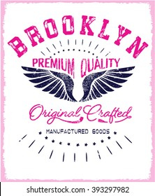 vintage eagle typography and icon for apparel