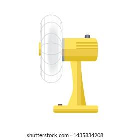 Vintage electric fan wind - air cooling in hot weather, illustration vector design