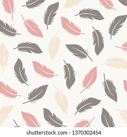 Vintage Elegant Feather Pattern. Elegant Background with feather designs. Good for Digital Print and Sublimation Techniques.