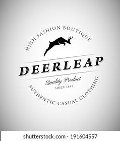 Vintage Emblem with Deer for Your Business
