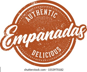 Vintage Empanadas Stamp for South American Restaurant