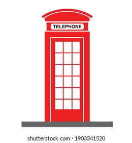 vintage england telephone booth vector design
