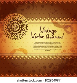 Vintage ethnic ornament