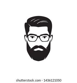 vintage face for barbershop logo
