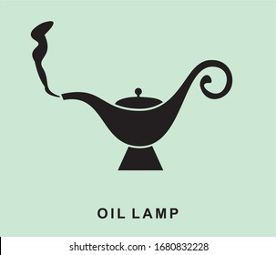 Vintage fairy- tale oil lamp