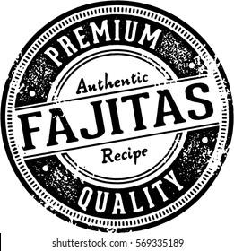 Vintage Fajitas Mexican Restaurant Menu Stamp