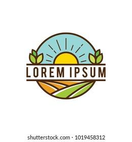 vintage farms two logo design