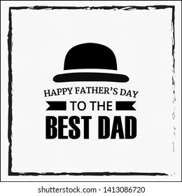 Vintage Father's day cards, template, universal elements for posters, flyers, web- sites, graphics - Vector