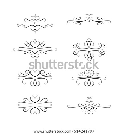 vintage filigree elements wedding invitation decoration stock vector