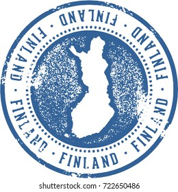 Vintage Finland European Country Travel Stamp