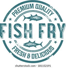 Vintage Fish Fry Menu Stamp