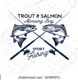 Vintage Fishing Emblem