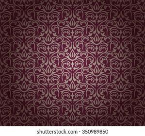 Vintage floral background pattern, vector illustration.