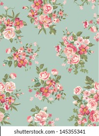vintage floral ,flower seamless pattern background