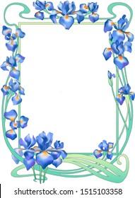 vintage floral foto frame vector