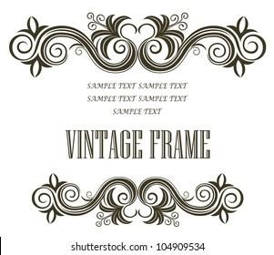 Vintage floral frame. Jpeg version also available in gallery