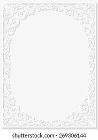 Vintage floral frame. Vector illustration