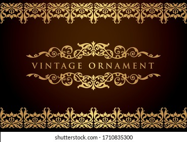 vintage floral ornament. decorative vector frames and borders.