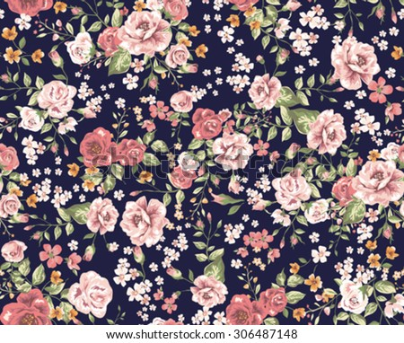 b2d64ceb070b Vintage Floral Pattern Stock Vector (Royalty Free) 306487148 ...