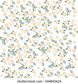 Vintage floral pattern. With mini soft pink flowers. Vector illustration.