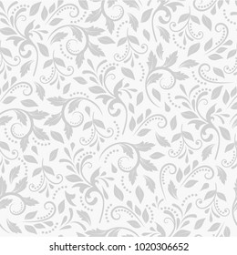 Vintage floral pattern. Seamless vector pattern in Baroque style for textiles, packaging, Wallpaper, covers. Decorative pattern Damascus. Vintage ornament with traditional style.