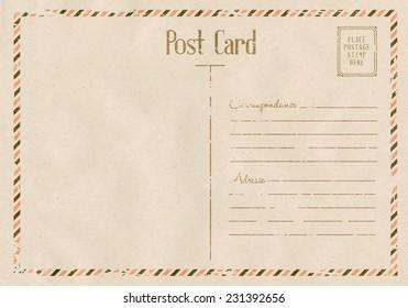 Vintage floral postcard on old paper texture. Vector illustration.