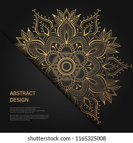 Vintage Floral style Brochure and Flyer Design Template. Creative art elements and ornament, page layouts, Luxury Gold, Black colors and artistic solutions for design and decoration