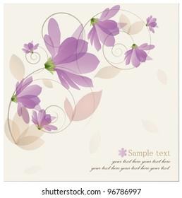 Vintage Flower Background. Vector illustration.