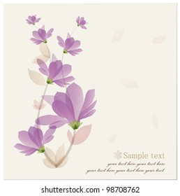Vintage Flower Background. Vector illustration.