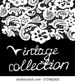Vintage flowers pattern. Ornament. Vintage collection to be continued.