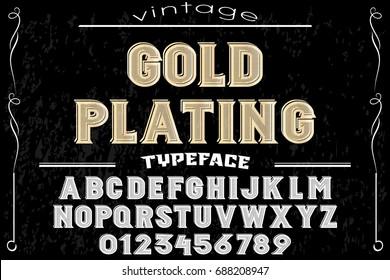 295e9db49 Vetor stock de Wild West Typeface Retro Alphabet Western (livre de ...
